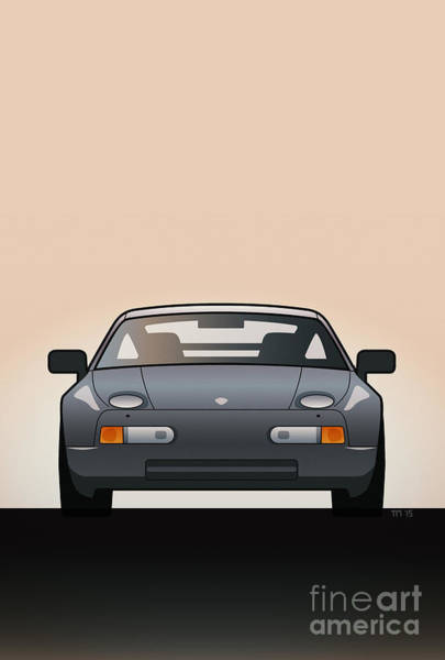 V8 Engine Wall Art - Digital Art - Modern Euro Icons Series Porsche 928 Gts by Monkey Crisis On Mars