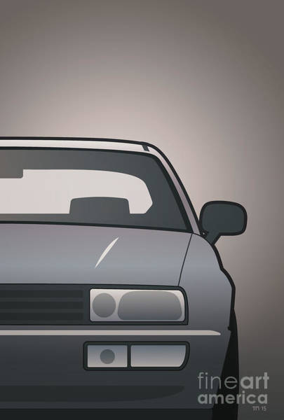 Wall Art - Digital Art - Modern Euro Icons Series Vw Corrado Vr6 by Monkey Crisis On Mars