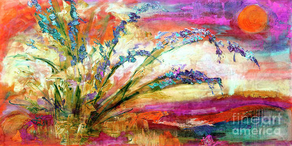 Painting - Modern Expressive Floral Landscape by Ginette Callaway