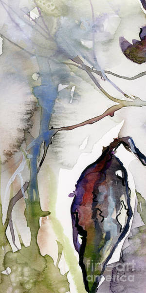 Painting - Modern Expressive Watercolor Autumn Leave by Ginette Callaway