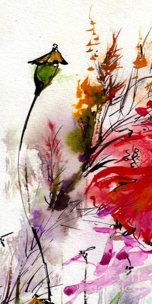 Painting - Modern Floral Poppy Pods 2 by Ginette Callaway