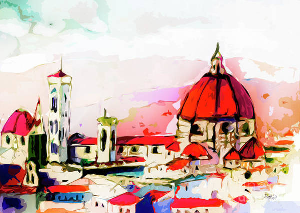 Painting - Modern Florence Mixed Media Art by Ginette Callaway