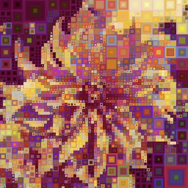 Digital Art - Modern Geometric Abstract Sunflower by Isabella Howard