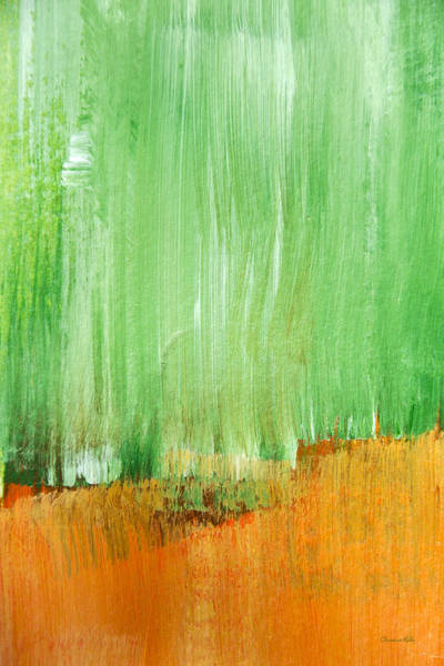 Mixed Media - Modern Green Abstract by Christina Rollo