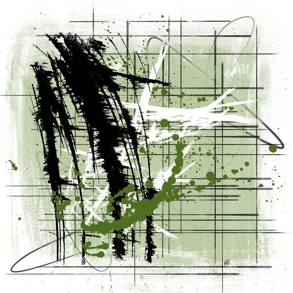 Dark Olive Green Wall Art - Painting - Modern Green by Melissa Smith