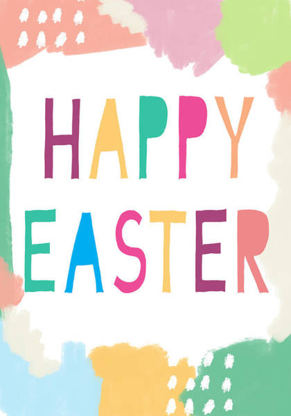 Digital Art - Modern Happy Easter- Art By Linda Woods by Linda Woods
