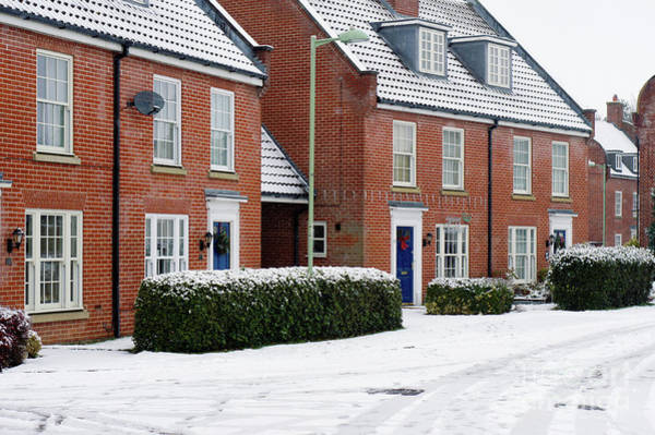 Wall Art - Photograph - Modern Houses In The Snow by Tom Gowanlock