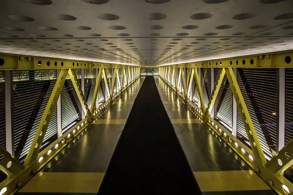 Photograph - modern looking pedway in Chicago by Sven Brogren