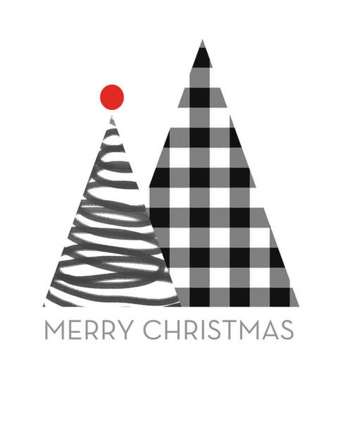 Triangle Digital Art - Modern Merry Christmas Trees - Art By Linda Woods by Linda Woods