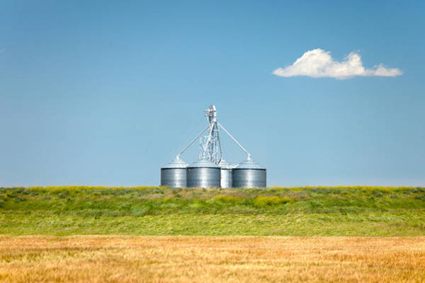 Silo Photograph - Modern Metal Bins by Todd Klassy