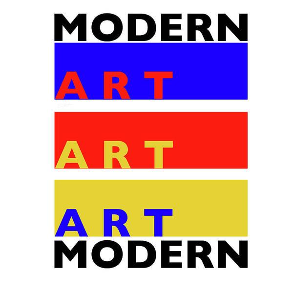Typo Painting - Modern Modern by Charles Stuart