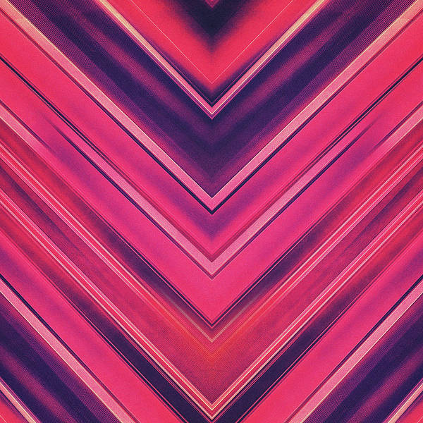 Wall Art - Photograph - Modern Red Black Stripe Abstract Stream Lines Texture Design Symmetric Edition by Philipp Rietz