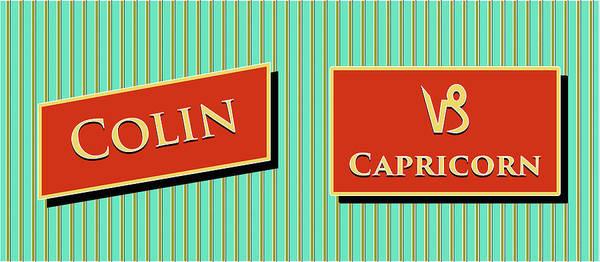 Collin Photograph - Modern Retro_colin_capricorn by David Smith