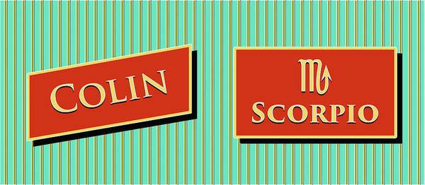 Collin Photograph - Modern Retro_colin_scorpio by David Smith