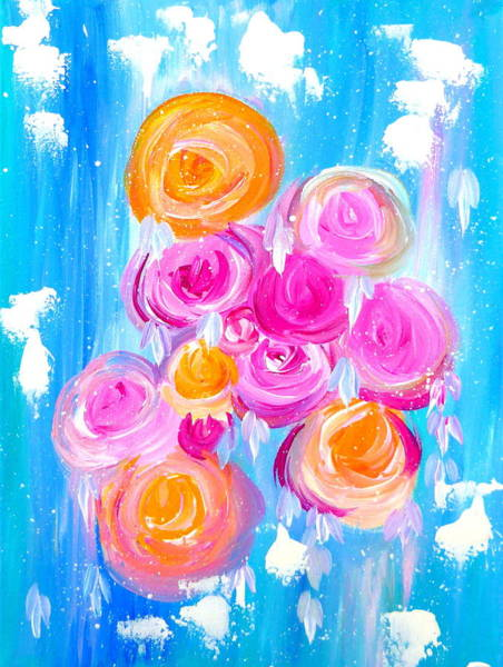 Framing Painting - Modern Roses by Cathy Jacobs