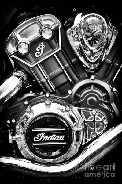 Photograph - Modern Scout Engine by Tim Gainey