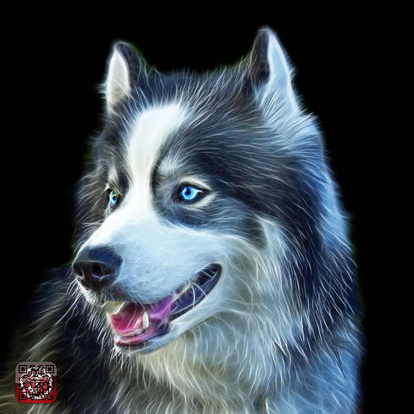 Painting - Modern Siberian Husky Dog Art - 6024 - Bb by James Ahn