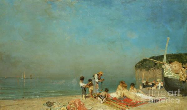 Sunbathing Painting - Modern Sirens by Edoardo Dalbono