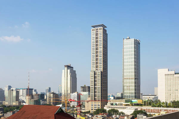 Photograph - Modern Skyscrapers In The Heart Of Jakarta Business District by Didier Marti