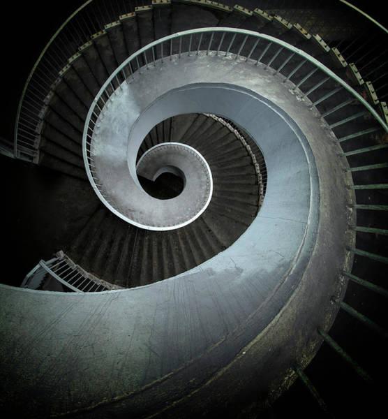 Wall Art - Photograph - Modern Spiral Stairs by Jaroslaw Blaminsky