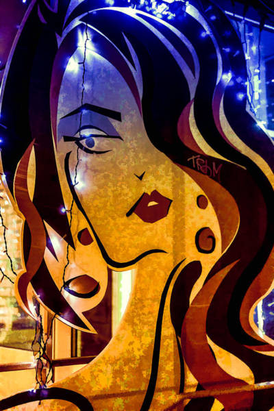 Photograph - Modern Urban Abstract Cartoon Woman In Color by John Williams