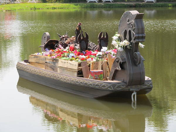 Photograph - Modern Viking Funeral by Digital Art Cafe