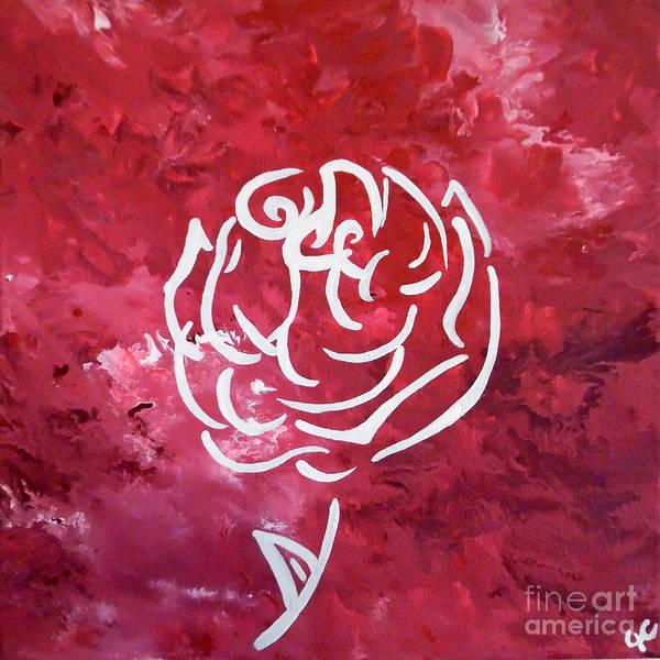 Painting - Modern White Rose by Jilian Cramb - AMothersFineArt