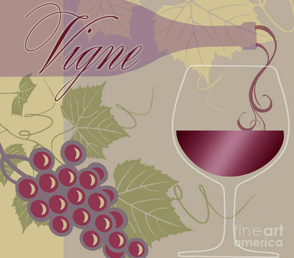 California Wine Country Painting - Modern Wine II by Mindy Sommers