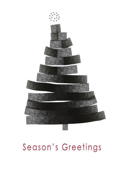 Contemporary Mixed Media - Modern Winter Tree- Season's Greetings Art By Linda Woods by Linda Woods