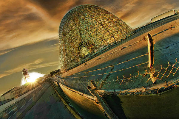 Moffett Field Hangar One At Dusk Art Print