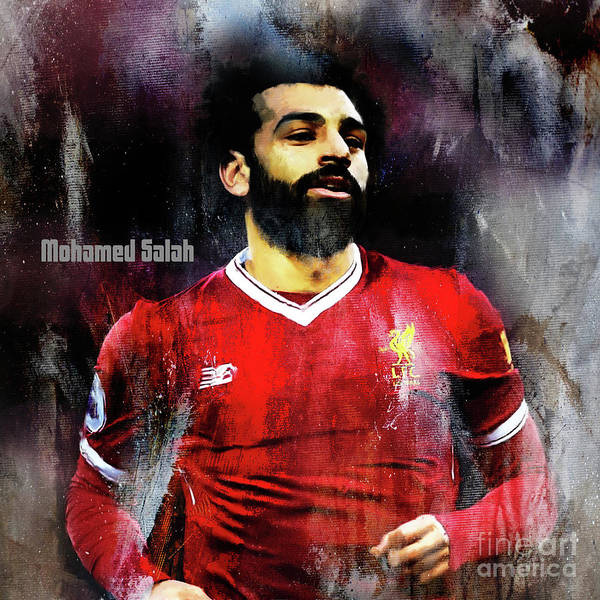 Super Cup Wall Art - Painting - Mohamed Salah by Gull G