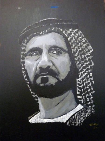 Painting - Mohammed Bin Rashid Al Maktoum by Richard Le Page