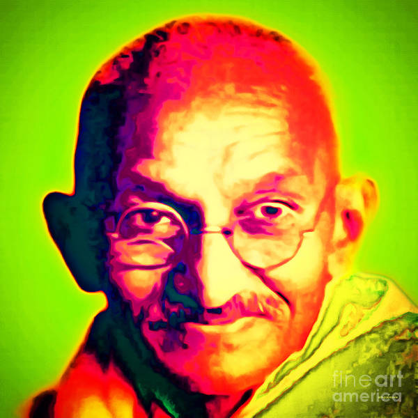 Peace And Harmony Wall Art - Photograph - Mohatma Gandhi 20151230 Square by Wingsdomain Art and Photography
