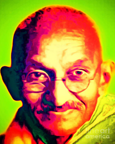 Peace And Harmony Wall Art - Photograph - Mohatma Gandhi 20151230 by Wingsdomain Art and Photography