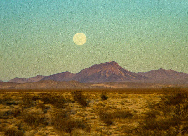 Mohave Desert Moon Art Print
