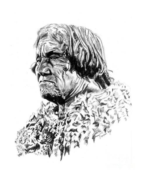 Drawing - Mohave Man by Toon De Zwart