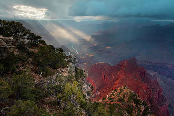 South Rim Photograph - Mohave Point Spotlight by Mike Buchheit