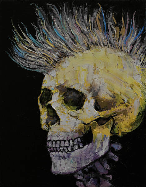 Punk Painting - Mohawk by Michael Creese