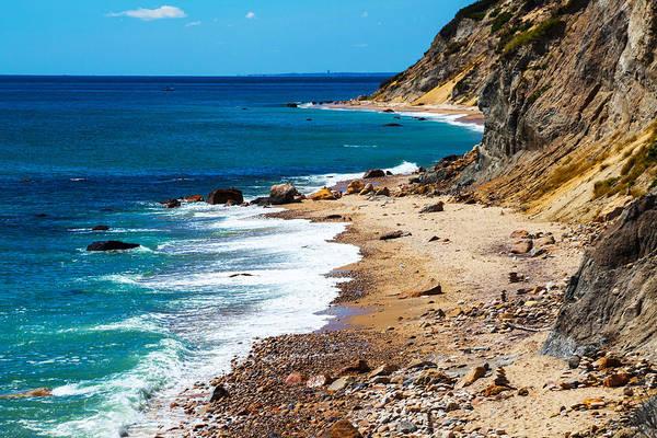 Rock Island Line Photograph - Mohegan Bluffs by Karol Livote