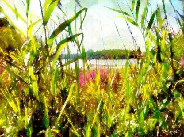 Painting - Mohegan Lake In The Brush by Derek Gedney