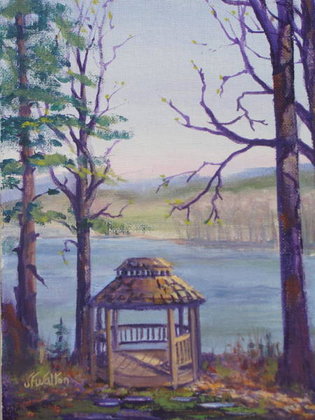 Painting - Mohican Spring Gazebo by Judy Fischer Walton