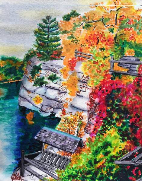 Wall Art - Painting - Mohonk Preserve In Autumn by Judy Swerlick