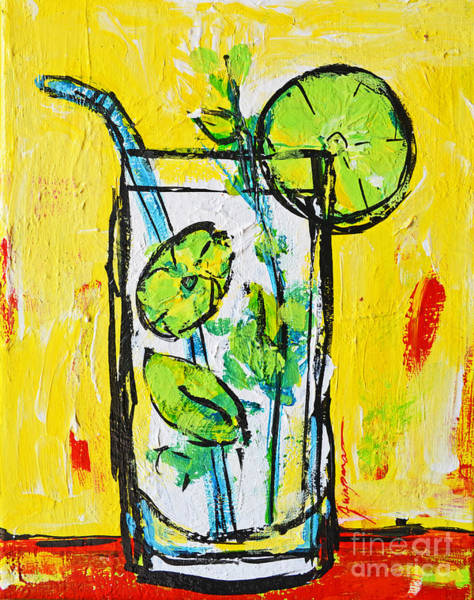 Painting - Mojito - Latin Tropical Drink Modern Art by Patricia Awapara