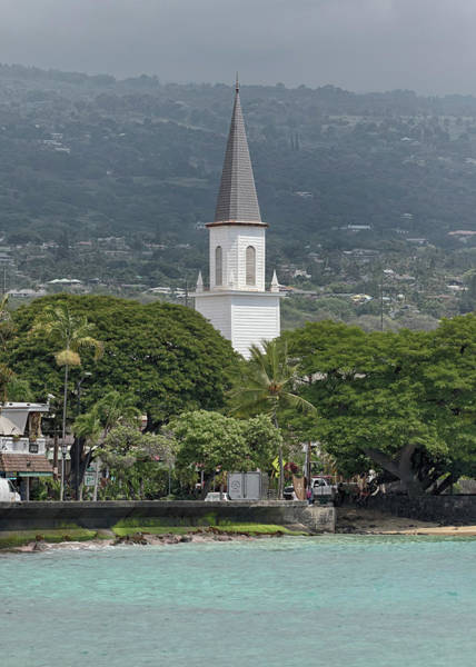 Photograph - Mokuaikaua Church Steeple by Susan Rissi Tregoning