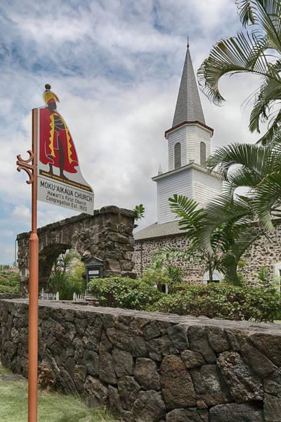 Photograph - Mokuaikaua Church by Susan Rissi Tregoning