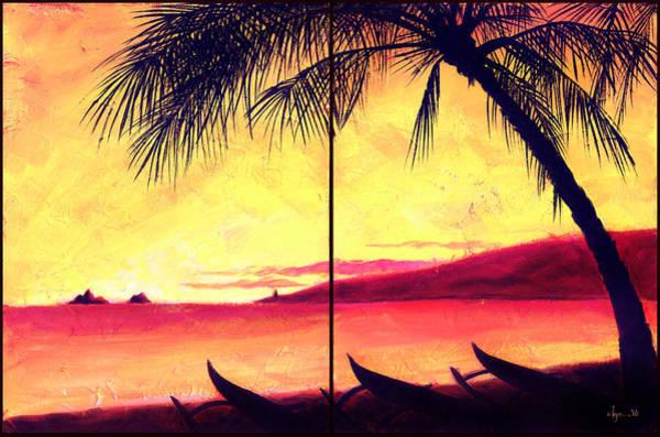 Painting - Mokulua Sundown by Angela Treat Lyon