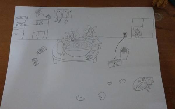Drawing - Mold Party by Sari Kurazusi