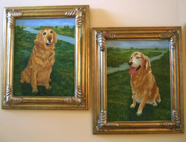 Painting - Mollie And Kasey  by Karen Zuk Rosenblatt
