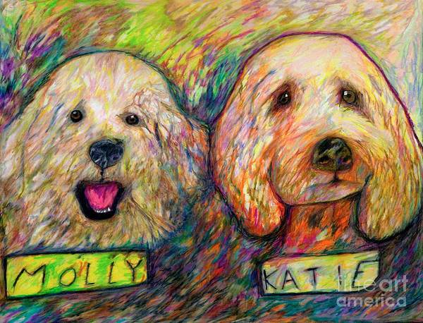 Drawing - Molly And Katie by Jon Kittleson