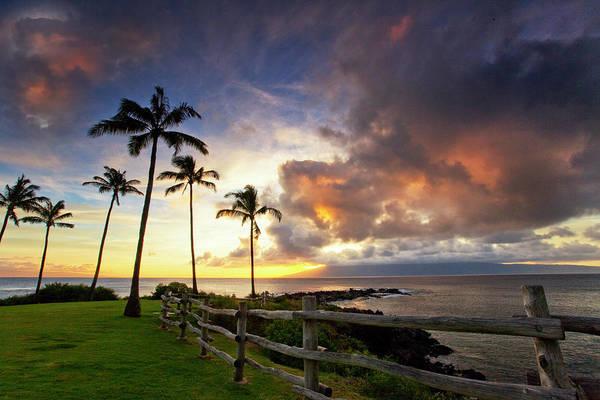 Kapalua Photograph - Molokai Sunset by James Roemmling